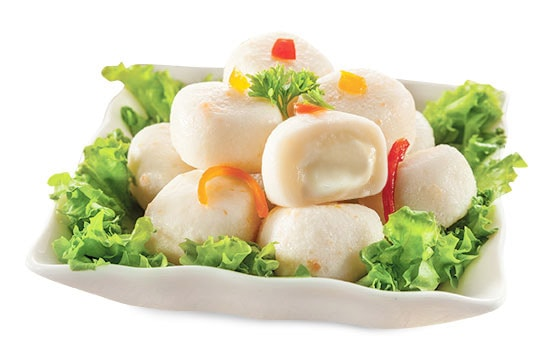 fish ball with cheese